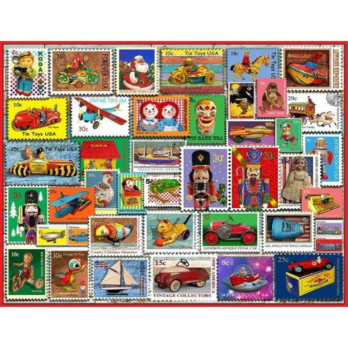 Christmas Toy Stamps piece jigsaw puzzle