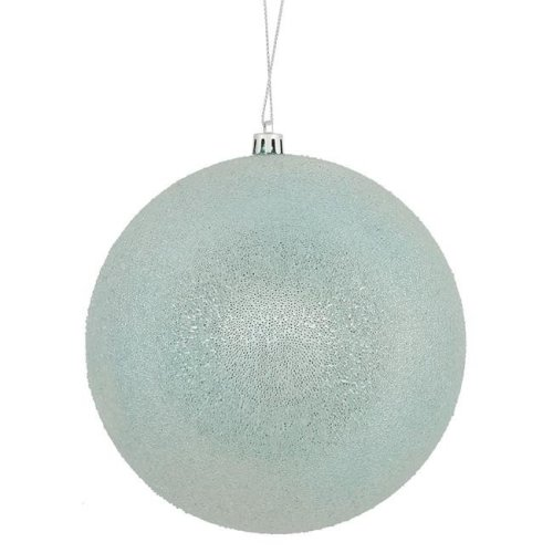 Vickerman N172432D 8 in. Baby Blue Iced Ornament Ball