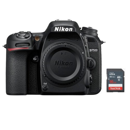 NIKON D7500 Body + 16GB SD card