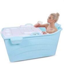 GLG Adult Folding Bathtub Foldable Baby Tub Portable Bathtub, Household Plastic Hot Tub Large Plastic Bath Tub Non-Slip Insulation With Cover