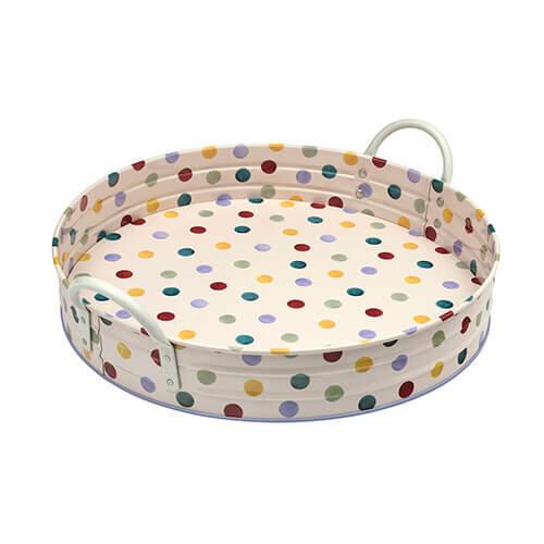 Emma Bridgewater Polka Dot Round Tray With Handles