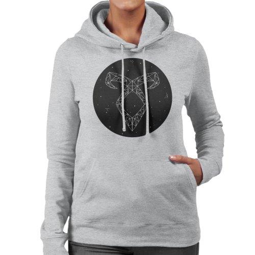 (X-Large, Heather Grey) Angel Rune Shadowhunters Women's Hooded Sweatshirt