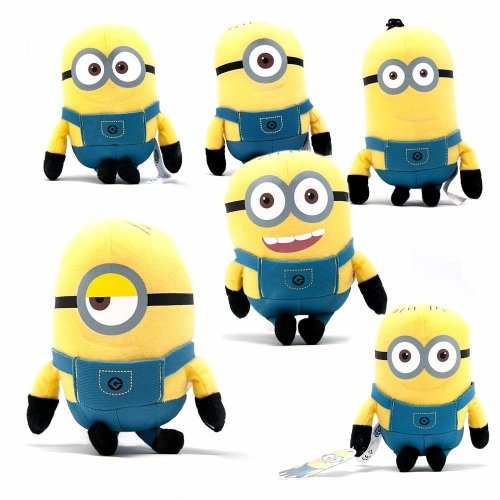 Despicable Me 18cm Minions Plush Toy With Plastic Eyes & Glasses