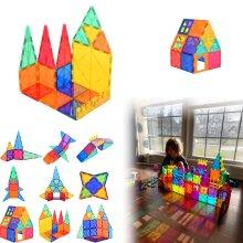 Magnetic Tiles Construction Toy Set Building Blocks Puzzle 46pcs