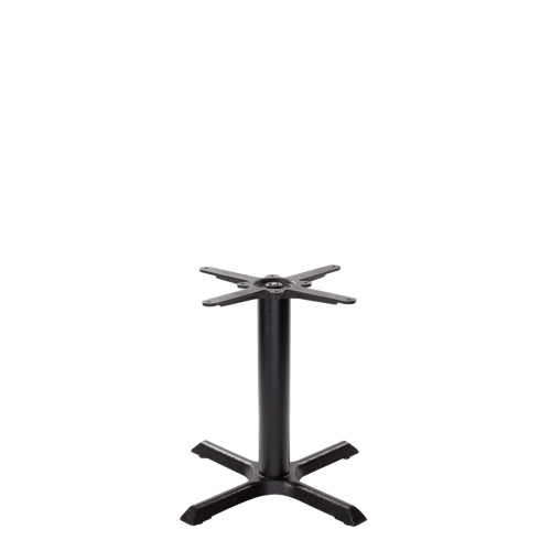Black cruciform table base - Small - Coffee height - 480 mm