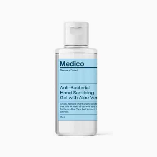 Medico Anti-Bacterial Hand Sanitiser Gel - 50ml