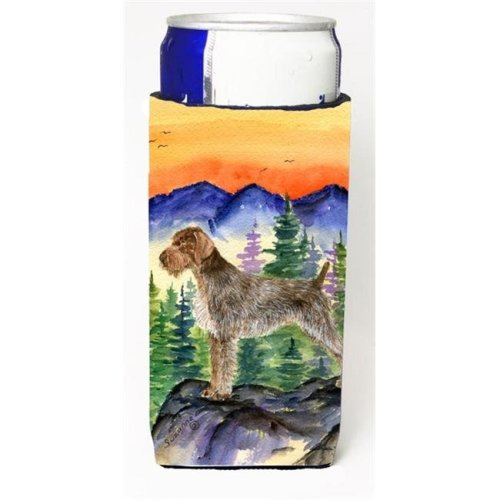 German Wirehaired Pointer Michelob Ultra bottle sleeves for slim cans 12 oz.