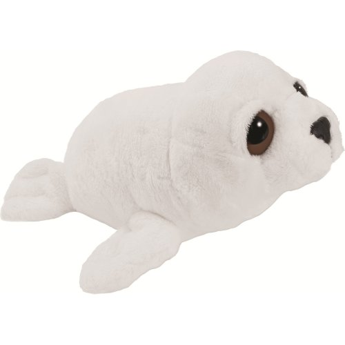 Suki Gifts Li'L Peepers Sealife Creatures Arctic Seal Soft Boa Plush Toy (White)