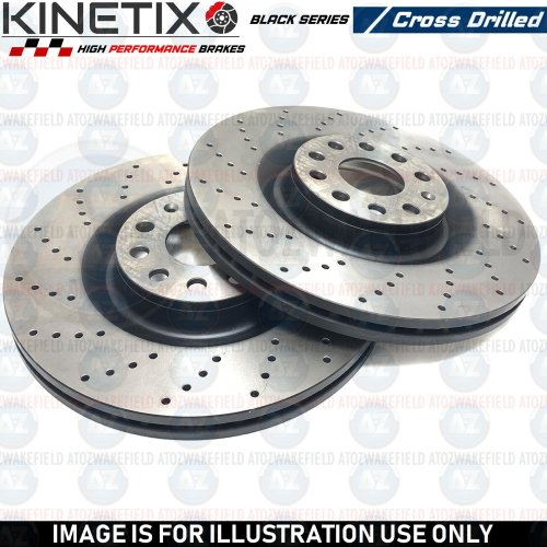 FOR MERCEDES A220 CLA200 CLA220 SPORTS REAR CROSS DRILLED BRAKE DISCS 295mm