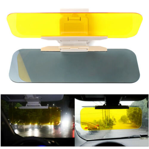 Car Sun Visor Shade Extender Clip on Day and anti-glare mirror