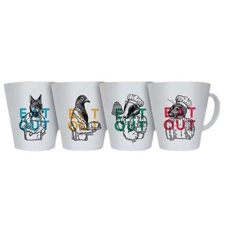 OLPRO EAT OUT Melamine Mug  Set (Pack of 4)