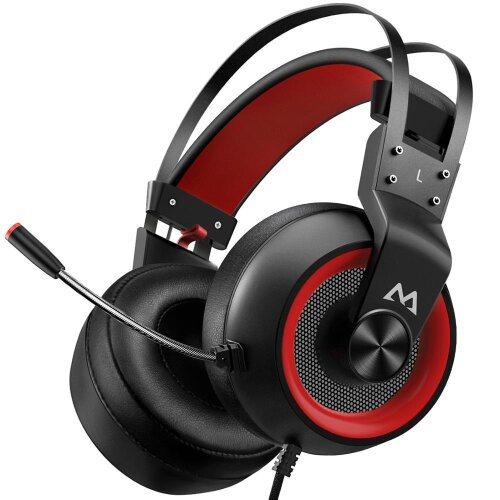 (Black with red) Mpow EG3 Pro Gaming Headphones For iPad PS4 PC Laptop Tablet Phones 3.5mm Jax & USB Cable