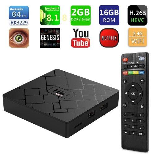 HK1 4K Android 8.1 Quad Core Smart TV Box A53 Processor 64 Bits