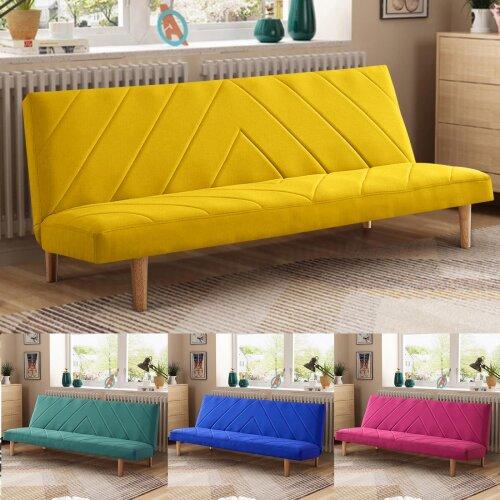 Modern 3-Seater Fabric Sofa Bed
