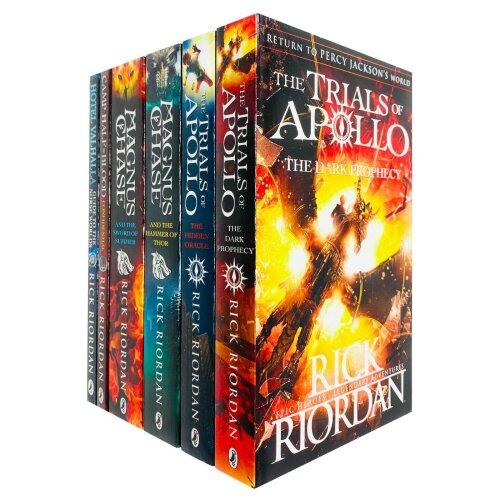 Rick Riordan 6 Books Collection Set Trials of Apollo Series
