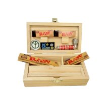 Rolling Supreme Medium Wooden Box Papers Tips Grinder Pipe Gift Set