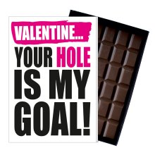 Funny Valentines Day Gift A Rude Naughty Present for Women Chocolate Card