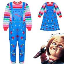Chucky Costume Halloween Kid Boys Girls Fancy Dress Outfit
