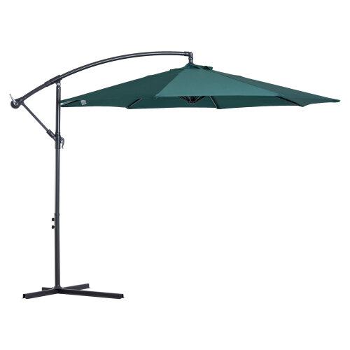 Outsunny 3M Banana Cantilever Hanging Umbrella Garden Parasol Sun Shade Canopy