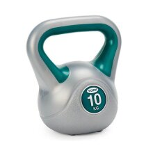 York Fitness Vinyl Coated Gym Training Home Kettlebell - 10kg