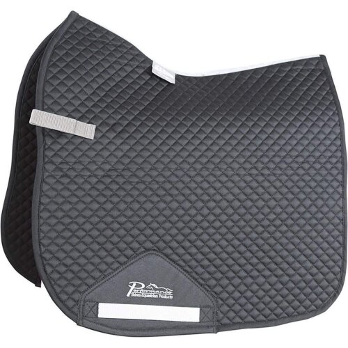 (17in - 18in, Black) Performance Suede Dressage Horse Saddlecloth