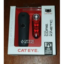 Cateye Sync Core And Kinetic Light Set 500 lumens.
