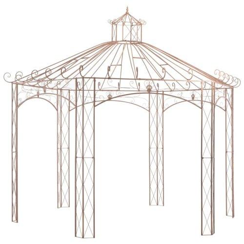 45439 vidaXL Garden Pavilion Antique Brown 4 m Iron