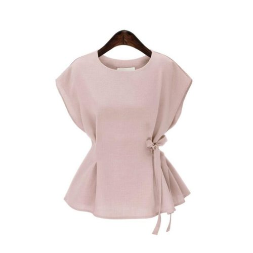 Womens Soft Peplum Top with Bow Back Simply Be