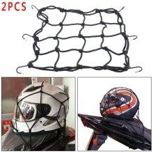 2X Motorcycle & Motorbike Bike 6 Hook Bungee Elastic Cargo Luggage Net 30x30 UK