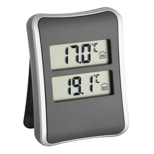TFA 30.1044 Digital Indoor/Outdoor Thermometer - Black