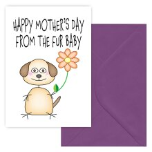 Mothers Day Card from Dog
