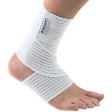 VULCAN 7310 SPORTS INJURY PAIN RELIEF BRACE SUPPORT ANKLE WRAP WHITE ONE SIZE