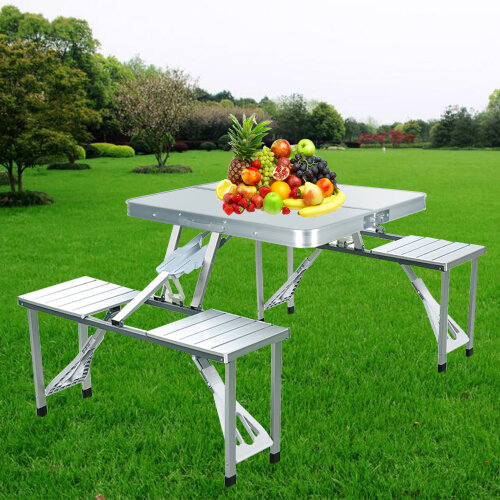 Camping Folding Table and Chairs Set with 4 Seats