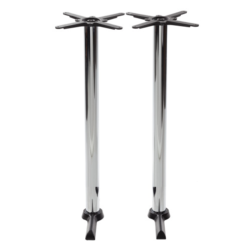 Black cruciform table base - Twin - Chrome poseur height - 1050 mm