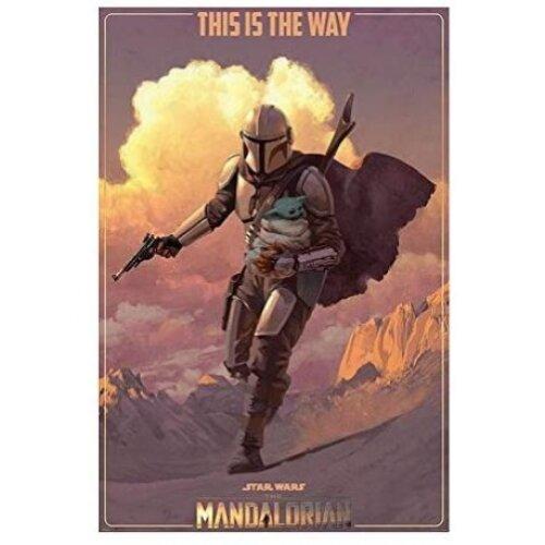 "Star Wars The Mandalorian On The Run Maxi Poster 24"" x 36"""