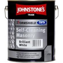 Johnstone's Trade 5 Stormshield Self Cleaning Masonry Brilliant White 5L