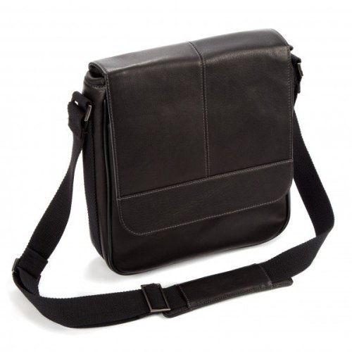 """Falcon Colombian Leather 10.5"""" Tablet Bag - FI6701 Black"""