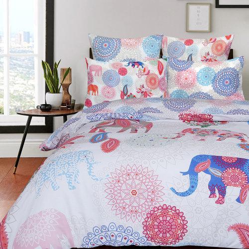 Elephant Bohemian 100% Cotton Soft Duvet Cover Set