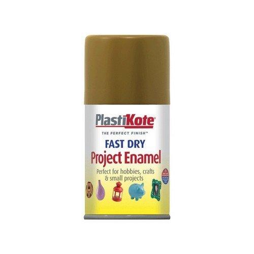 Plasti-Kote PKT143S Fast Dry Enamel Aerosol Antique Gold 100ml