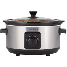 Morphy Richards 460017 Brushed Stainless Steel 3.5L Slow Cooker