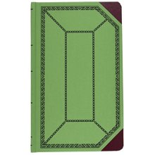 Boorum Pease BOR6718500R Recordaccount book greenred cover record rule 12 12 x 7 58 500 pages