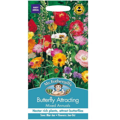 Mr Fothergills - Pictorial Packet - Flower - Butterfly Mixed Attracting Annuals  - 75 Seeds