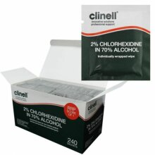 Clinell 70 % Alcoholic 2% Chlorhexidine Disinfection Wipes 10 Sachets