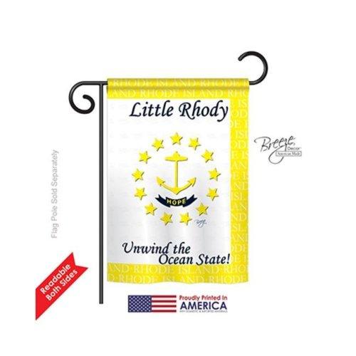 Breeze Decor 58142 States Rhode Island 2-Sided Impression Garden Flag - 13 x 18.5 in.