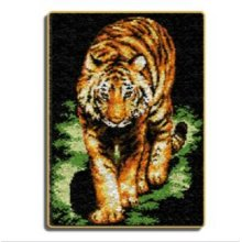 "Latch Hook Rug Kit""Night Tiger"" 100x72cm"