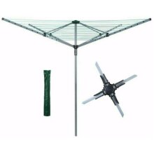 Abaseen 50M 4 Arm Heavy Duty Rotary Airer/Dryer Clothes Washing Line