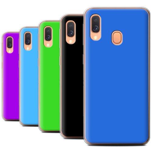 Colours Samsung Galaxy A40 2019 Phone Case Transparent Clear Ultra Soft Flexi Silicone Gel/TPU Bumper Cover for Samsung Galaxy A40 2019