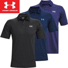 UNDER ARMOUR MENS PERFORMANCE PRINTED STRETCH GOLF POLO SHIRT / NEW 2021 MODEL