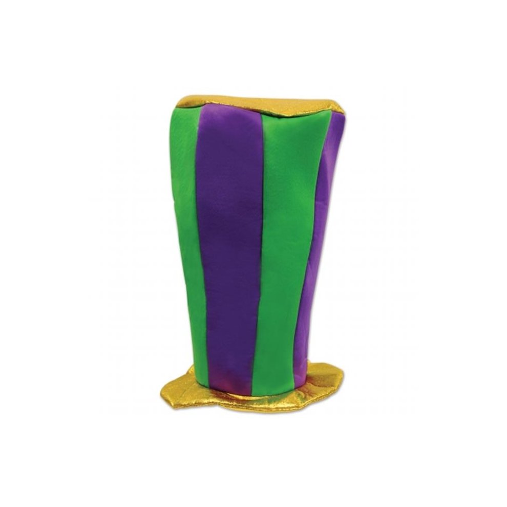 Mardi Gras Tall Plush Top Hat One Size