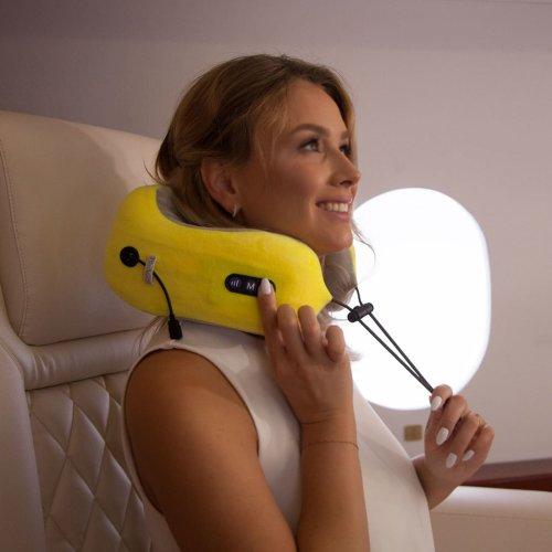 Travel Massage Pillow, Portable Massager with Heat